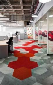Hexagon shape carpet tiles for Old/New Property