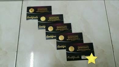 GOLD COIN 1/4 DINAR Amethyst emas 999