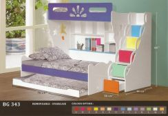 Wooden Children bed + pull out-8343