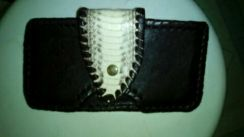 Snake skin genuine leather