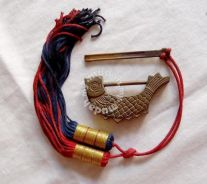 Antique Oriental Fish-Shaped Brass Lock with Key