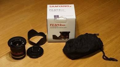 Samyang 12mm F2.0 Sony E (wide angle)