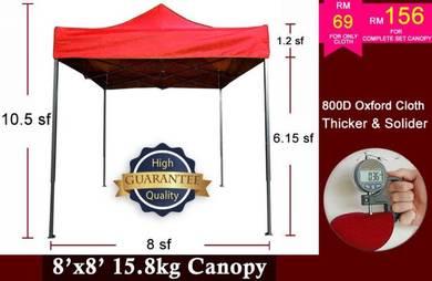 8x8 800D Thicken Tent Canopy Khemah Kanopi