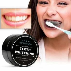 White Teeth Activated Charcoal Arang Pemutih Gigi