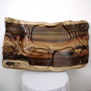 Dragon Tortoise Wood Tea Tray 吉祥龙龟茶盘