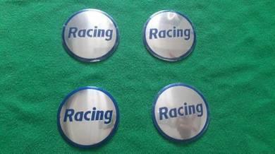 RACING sport rim hubcap stickers rpo1 metal 4pcs