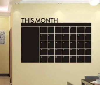 Monthly Planning Calendar Vinyl Wall Sticker Board
