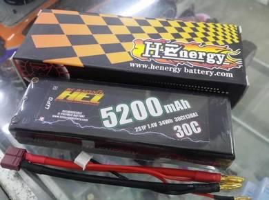 H-Energy 2S 7.4V 5200mAh 30C Hardcase Lipo Battery