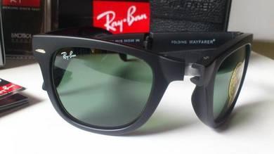 Folding Wayfarer RB4105 601 Black/Green