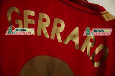 Liverpool 2006 jersey jersi Gold emas nameset ori