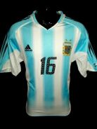 Argentina 2004 Pablo Aimar Home jersey S
