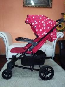 Stroller baby - merah