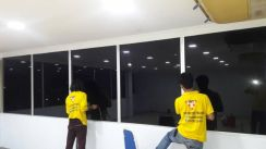 Glass wall and window tint