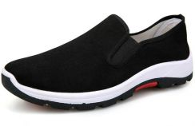 F0267 Black Slip On Sneakers Wear Hiking Shoes