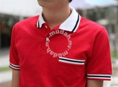 Awesome Short Sleeve Polo Slim Fit T Shirt - Red