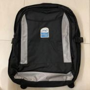 Laptop backpack with Intel logo