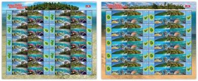 Mint Stamp Sheet Island Beaches Series 3 Msia 2015