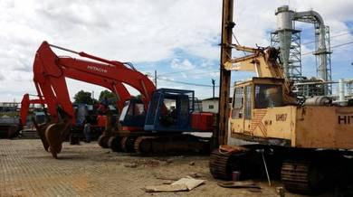 Machinery, Excavator, office portacabin, container