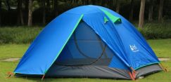 Aluminum Double Layer 2 Men Outdoor Camping Tent