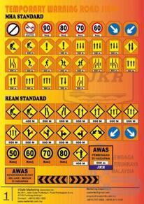 JKR Temporary Traffic Road Sign Fluorescent Orange