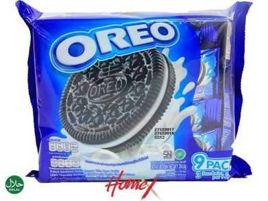 Oreo Vanilla Sandwich Cookies 265g (3 pcs x 9 pac