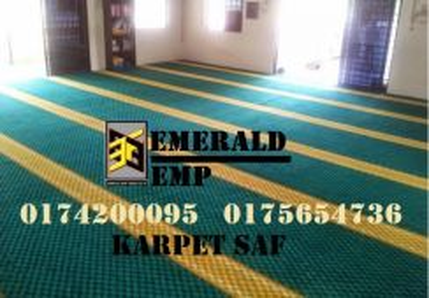 Karpet saf surau carpet masjid tebal