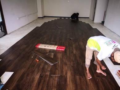 Vinyl Floor Lantai Timber Laminate PVC Floor Q281