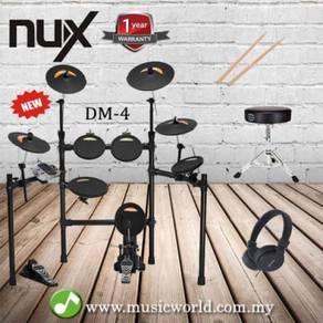 NUX Electronic Drum Set DM-4 Package