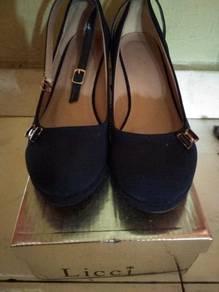 Dark Blue Wedges Size 38