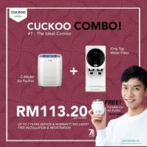 Penapis air cuckoo COMBO Deal 113.20 shj sebulan