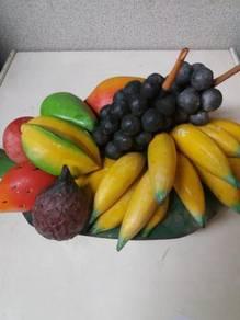 Balinese wood craft fruits