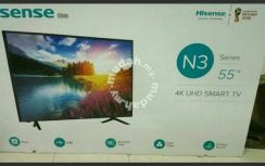 New 55 inc hisense Smart 4k uhd tv