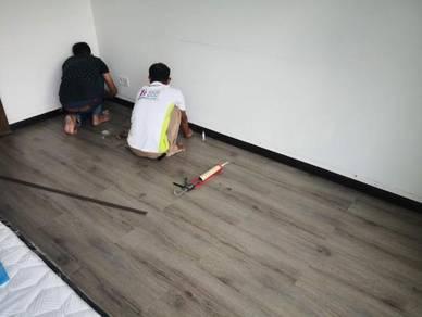 Vinyl Floor Lantai Timber Laminate PVC Floor Q280