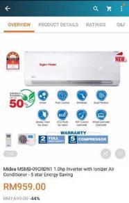 Media 1.0hp Inverter Air Conditioner (NEW)