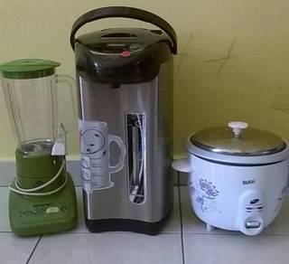 Water dispenser + blender + rice cooker