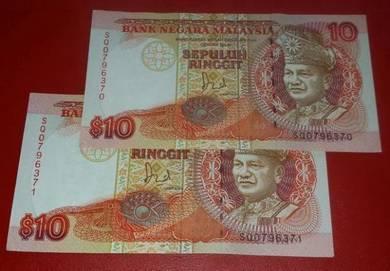 RM10 Jaafar Hussein SQ0796370-71 (2 pcs)