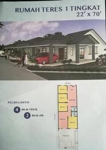 Rumah Baru Teres 1 Tingkat utk Di Jual/ Krubong Melaka