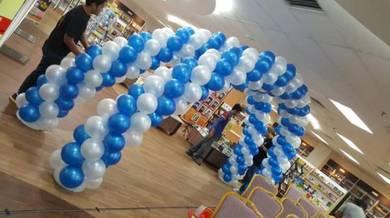 Double Arch Balloon Entrance 00636
