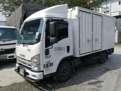 Isuzu NLR55UEE UBS Corrugated Box 12.5ft Tail Lift