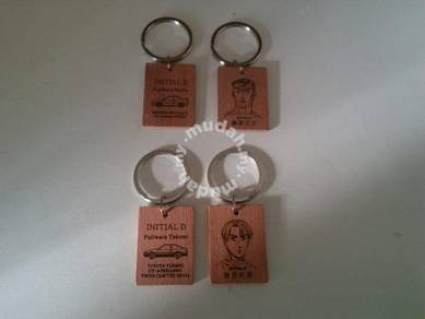 Ae86 wooden keychain pic front and rear