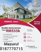New Double Storey House at Permas Jaya open for Sale n MCO PROMOTION