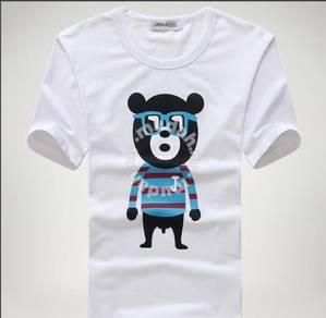 Cool Bear Sunglasses Short Sleeve T Shirt (White)