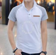 Cool High-Neck Short Sleeve Polo T Shirt (White)