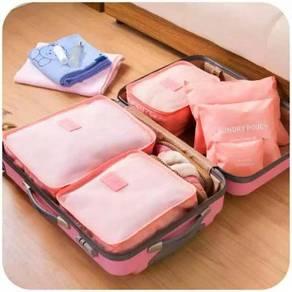 6pcs Travel Organizer Storage Bag Travel Luggage W