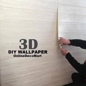 (KL)3D wood DIY wallpaper panel new launching