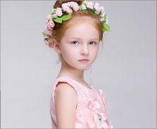 Wedding Flower Girl Headband Bunga Kahwin