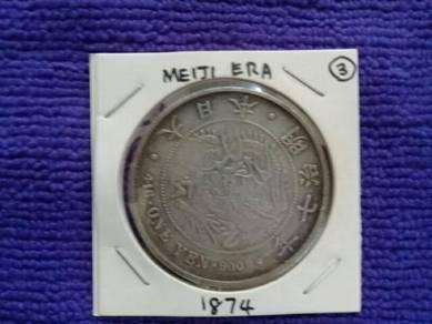 119 duit syiling lama Meiji old coin japan 1874