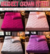 Bedsheet crown fitted (king size)