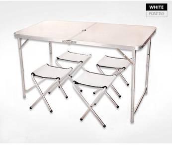 Meja Lipat Aluminium Folding Table new pos
