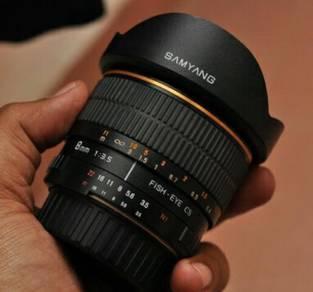 Samyang fisheye 8mm f3.5 for nikon Dx